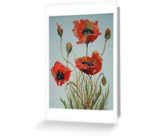 'Poppies' Greeting Card