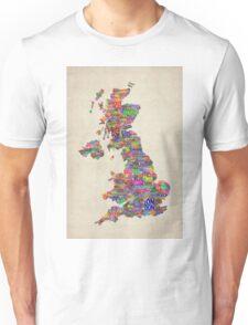 Great Britain UK City Text Map Unisex T-Shirt