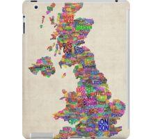 Great Britain UK City Text Map iPad Case/Skin