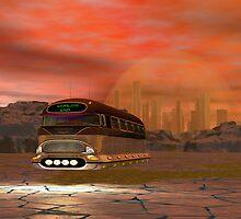 World's End Tour at Antarctica Sunset 2113 A.D. by Sazzart