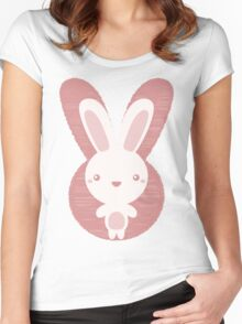The stuffed toy of the rabbit Women's Fitted Scoop T-Shirt