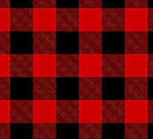 Simple Plaid - Red by Surpryse