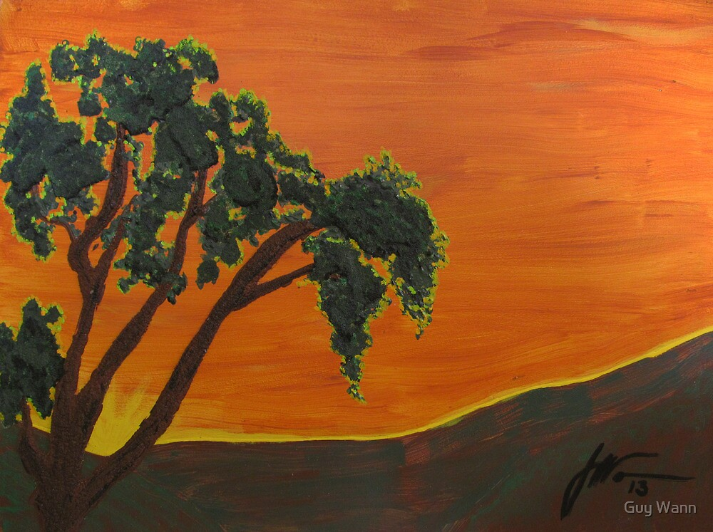 Sunset Oak by Guy Wann