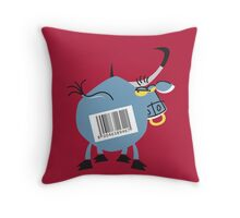 Marked Cool Bull!!! Throw Pillow