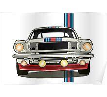 Martini Mustang Poster