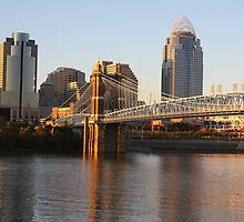 Autumn Evening Cincinnati Ohio by Tony Wilder