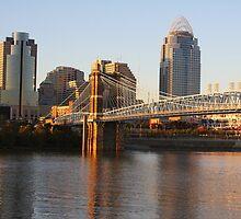 Autumn Evening Cincinnati Ohio by Tony Wilder