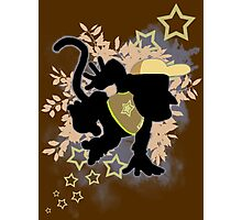 Super Smash Bros. Light Brown Diddy Silhouette Photographic Print