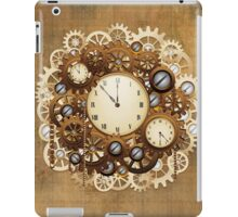 Steampunk Vintage Style Clocks and Gears iPad Case/Skin