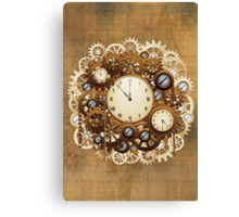 Steampunk Vintage Style Clocks and Gears Canvas Print