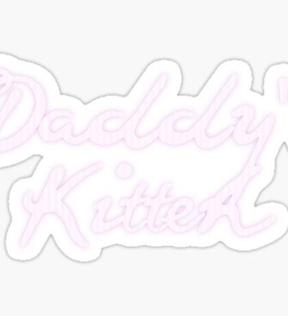 Daddy's Kitten Sticker