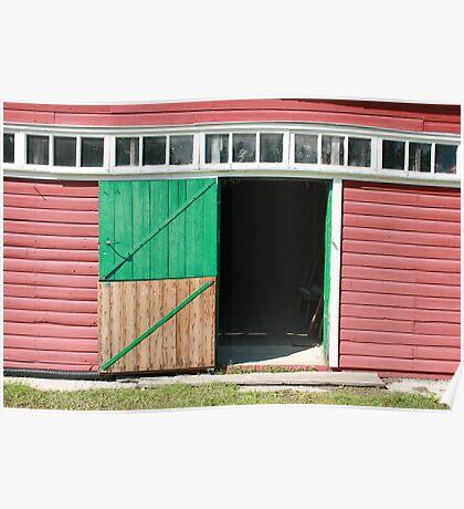 Two Piece Barn Door Poster