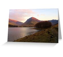 Buttermere at dusk Greeting Card