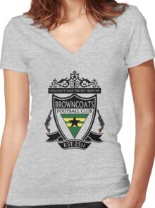 Browncoats Football Club Women's Fitted V-Neck T-Shirt