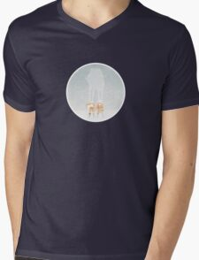Subtle Seasons greeting Mens V-Neck T-Shirt