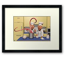 Too Many Cooks New Series -  The Food Strikes Back Framed Print