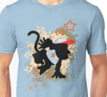 Super Smash Bros. Light Blue Diddy Silhouette Unisex T-Shirt