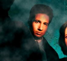 Scully and Mulder - The X Files Sticker
