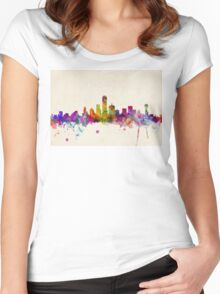 Dallas Texas Skyline Women's Fitted Scoop T-Shirt