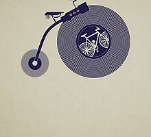Penny Vinyl (poster) by modernistdesign