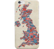 Great Britain UK City Text Map iPhone Case/Skin
