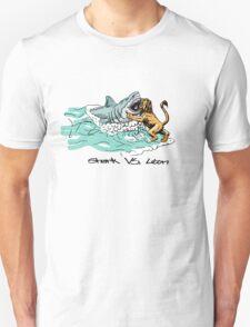 Shark Vs. Lion Unisex T-Shirt