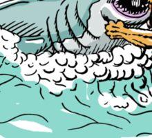 Shark Vs. Lion Sticker