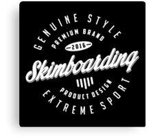 Skimboarding Extreme Sport  White Art Canvas Print