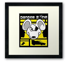 Danger Zone - yellow Framed Print