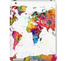Map of the World Map Watercolor iPad Case/Skin