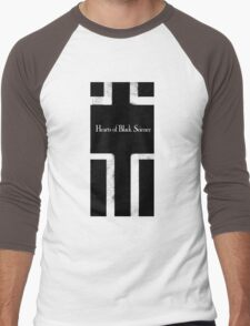 Hearts of Black Science Blocks Logo Men's Baseball ¾ T-Shirt