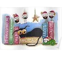 The Christmas shelf Poster