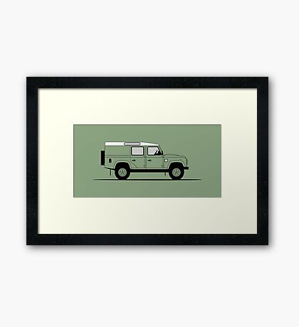 A Graphical Interpretation of the Defender 110 Utility Station Wagon Heritage Edition Framed Print