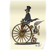 STEAMPUNK PENNY FARTHING BICYCLE (yellow) Poster
