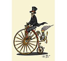 STEAMPUNK PENNY FARTHING BICYCLE (yellow) Photographic Print