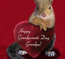 Grandparents Day Grandpa Squirrel by jkartlife