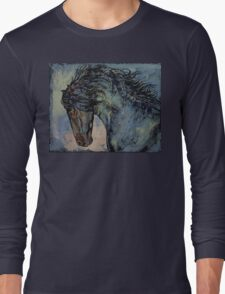 Friesian Stallion Long Sleeve T-Shirt