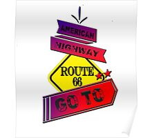 Traffic signal Route 66 america higway  Poster