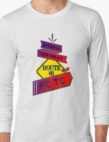 Traffic signal Route 66 america higway  Long Sleeve T-Shirt