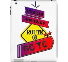 Traffic signal Route 66 america higway  iPad Case/Skin