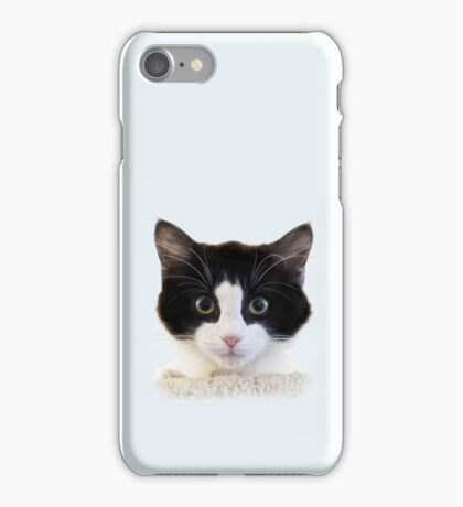 Wide-eyed kitty phone case iPhone Case/Skin