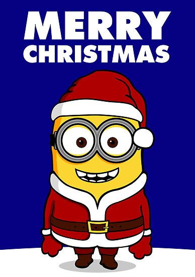 Santa Minion - Version 3 | THE PERFECT CHRISTMAS CARD FOR YOUR FRIENDS by lemontee
