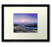 Moonlit Shores Framed Print