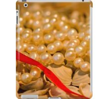 Red ribbon and pearls iPad Case/Skin
