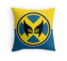 Wolverine Symbol Throw Pillow