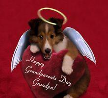 Grandparents Day Grandpa Angel Sheltie by jkartlife