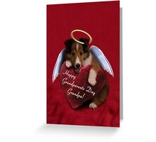 Grandparents Day Grandpa Angel Sheltie Greeting Card