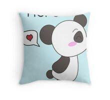 """His & Hers"" Panda (Couple Case) Boy Version [Color] Throw Pillow"