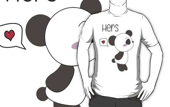 """His & Hers"" Panda (Couple Shirts) Boy Version by charsheee"