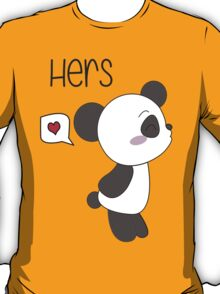 """His & Hers"" Panda (Couple Shirts) Boy Version T-Shirt"